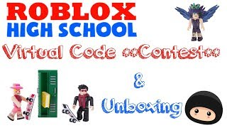 Virtual Code Contest | Roblox Core Pack Unboxing | Roblox Series One High School