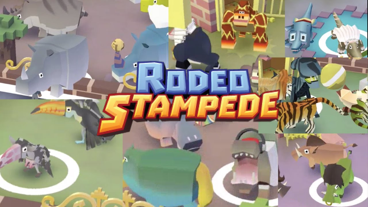 Rodeo Stampede All Animals Captured Jungle Area Ios