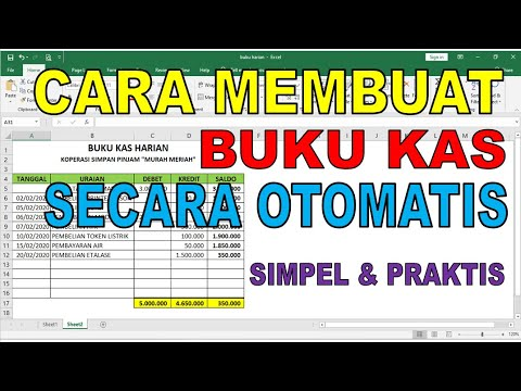 Cara Mudah Membuat Buku Kas Harian Secara Otomatis Di Ms Excel Youtube