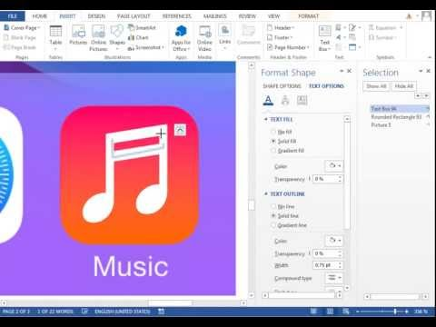 iOS 7 in Word - 13/30 - MUSIC ICON