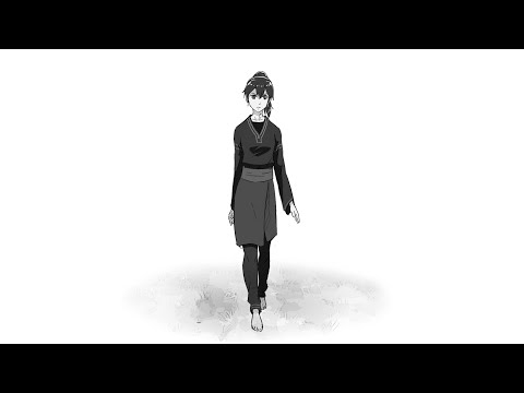 making girl walk cycle 2d animation using krita