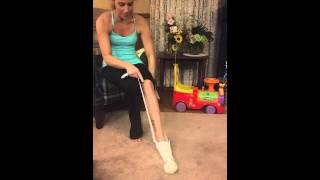 How to put on a compression stocking
