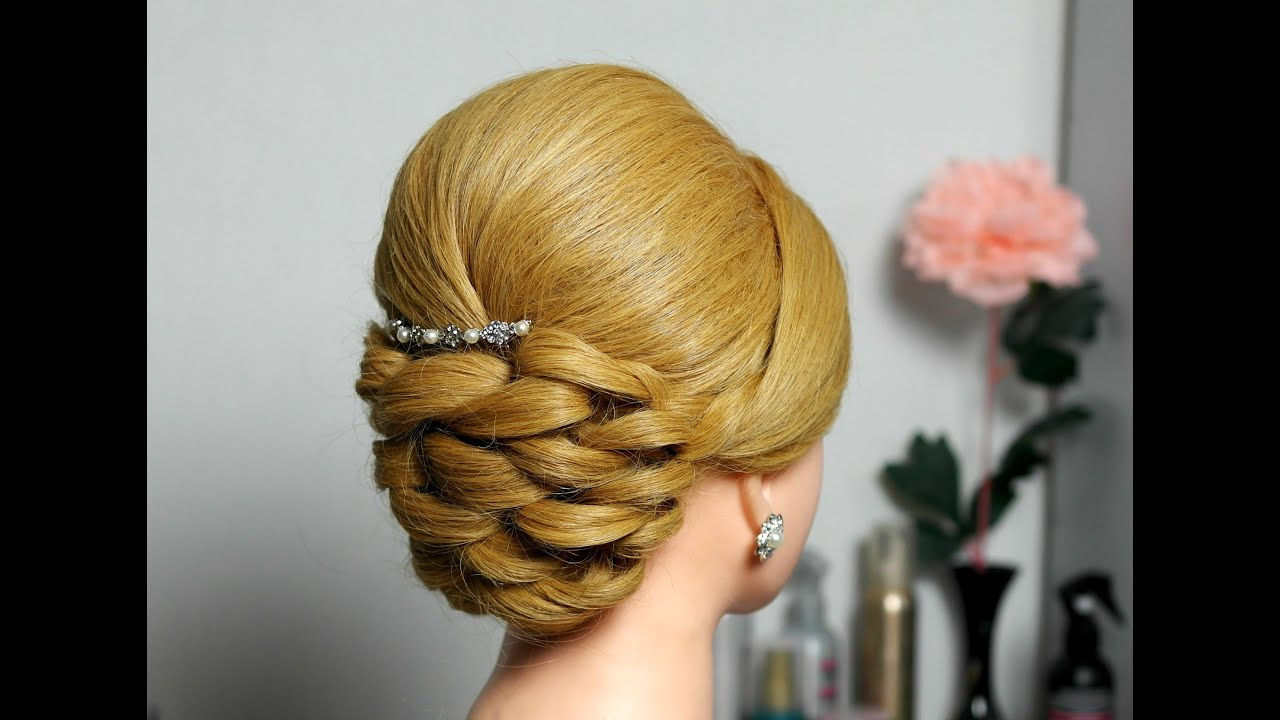 bridal prom updo hairstyle