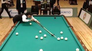 32 шара подряд от Алихана на ЧМ2016