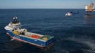 H225 Rescue Training in North Sea