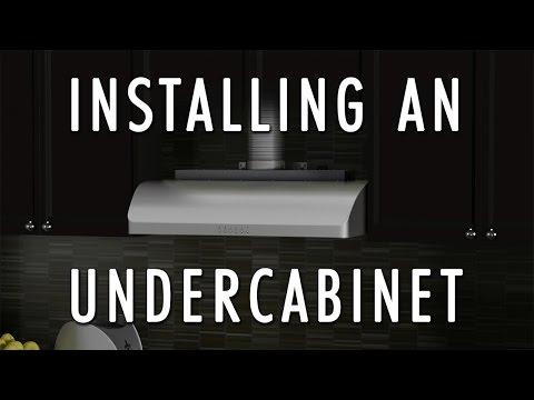 How to install an Undercabinet Range Hood - ZLINE Range Hood installation
