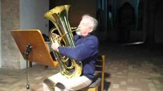 Bach mit Tuba (Basstuba): Menuett 2 aus Cello Suite Nr. 1 von J. S. Bach