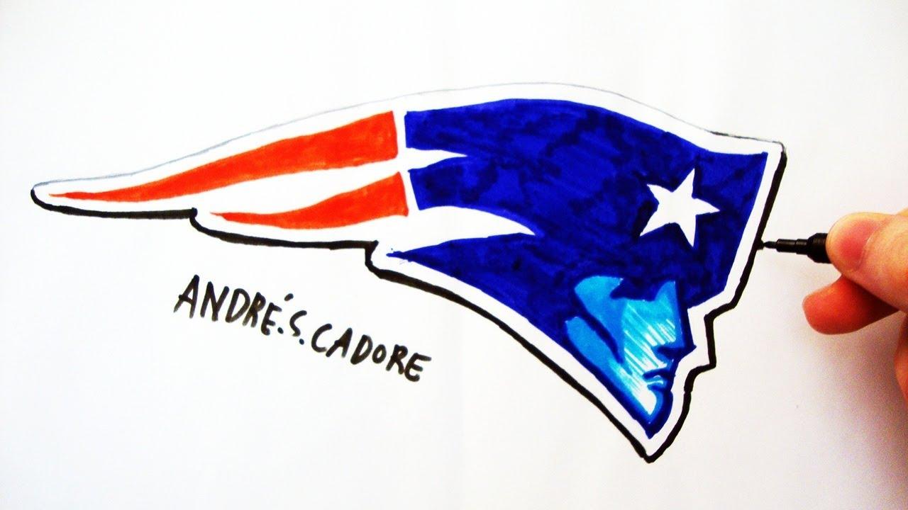 Como Desenhar A Logo Do New England Patriots How To Draw Patriots