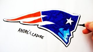 Como Desenhar a logo do New England Patriots - ( How to Draw Patriots logo) - NFL LOGOS #7