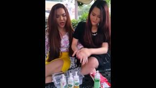clip hot girl linda giới thiệu v test sữa tắm trắng bạc h chyn beauty 250k