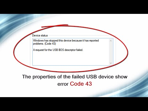 Fixing USB BOS descriptor failure (Code 43) in USB devices