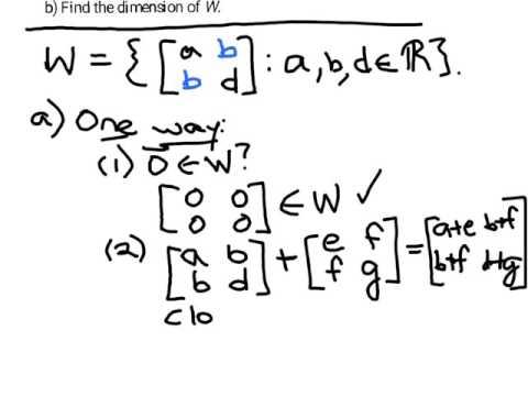 symmetric matrices form subspace