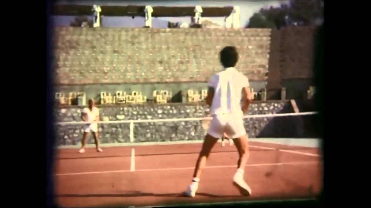 Lew Hoad lessons at tennis camp Summer 1972 Mijas Málaga SPAIN