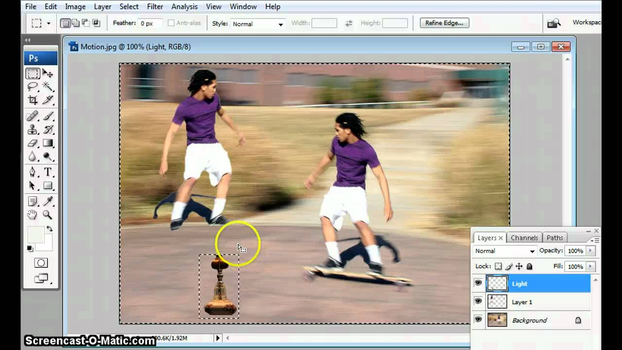 How photoshop in to invert selection