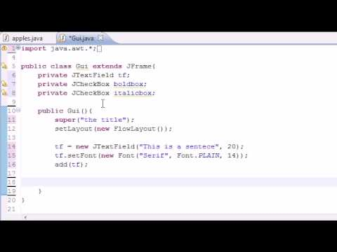 Java Programming Tutorial - 64 - JCheckBox
