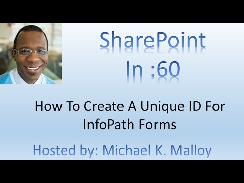 Create A Unique ID For InfoPath Forms And Prevent Duplicate Forms