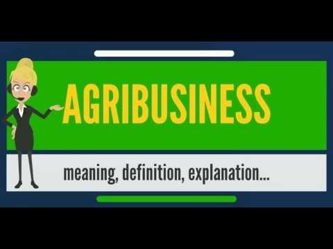 What is AGRIBUSINESS? What does AGRIBUSINESS mean? AGRIBUSINESS meaning, definition & explanation