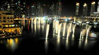 Dubai's Dancing Fountain-I will always love u Whitney Houstonنافورة دبي الراقصه AVI