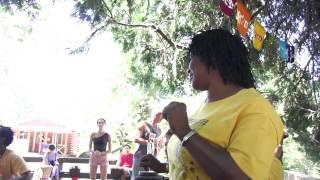 Djeneba Sako sings and Moussa Traore accompanies at Camp Fareta 2013