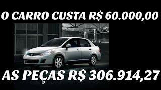 O CARRO CUSTA R$ 60.000,00 AS PEÇAS R$ 306.914,27