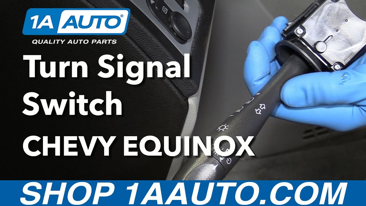 How To Install Replace Turn Signal And Headlight Switch Lever 2007 1982 Chevy Truck Courtesy Light Wiring Diagram 09 Equinox Youtube