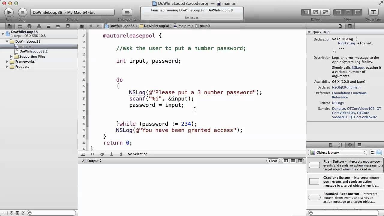 Objective c tutorials 41 do while loop example youtube objective c tutorials 41 do while loop example baditri Image collections