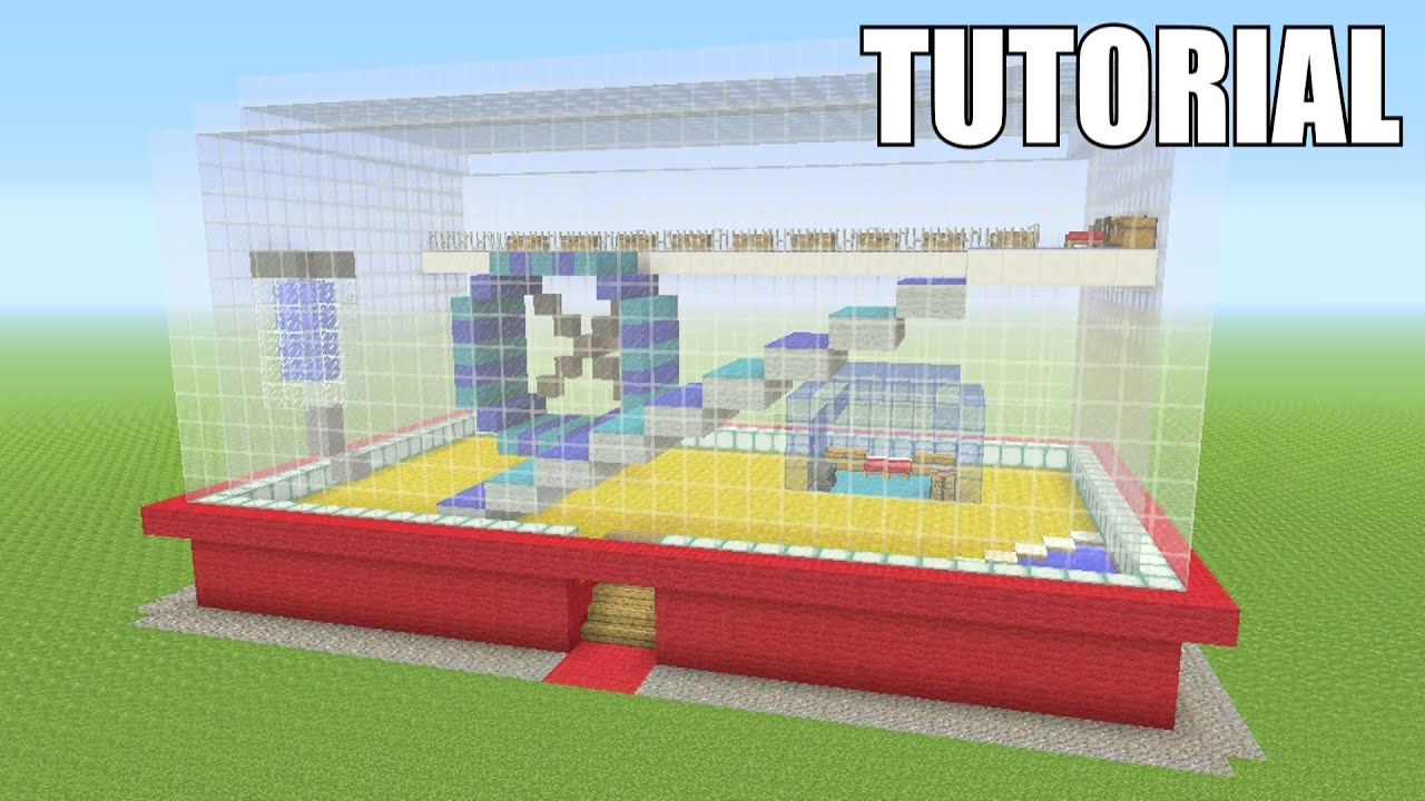 Minecraft tutorial how to make a hamster cage survival for How to build a hamster cage