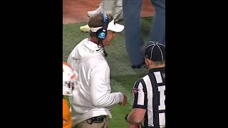 Lane Kiffin appears to get hit with a golf ball thrown from stands #shorts