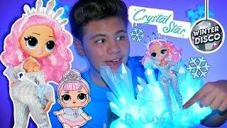 СНЕЖНАЯ КОРОЛЕВА ❄️ ТАНЦПОЛА! Crystal Star ❄ LOL Surprise OMG Winter Disco  обзор на Кристал Стар