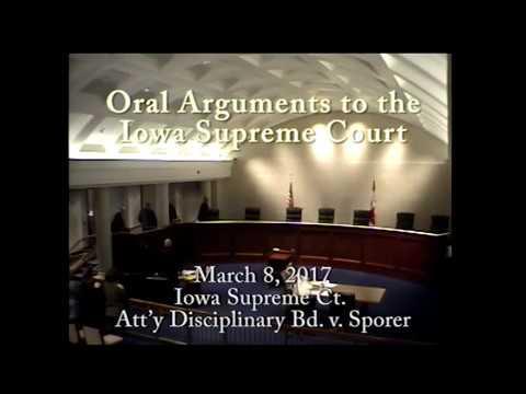 16-1441 Iowa Supreme Ct. Att'y Disciplinary Bd. v. Sporer, March 8, 2017