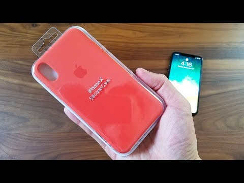 iPhone X Spicy Orange Silicon Case