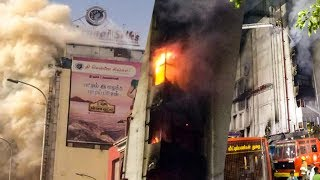 SHOCKING Footage -FIRE at Chennai Silks Building in T.Nagar