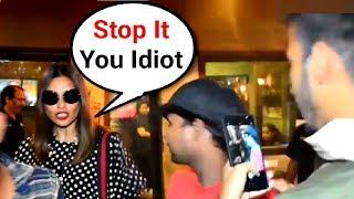 Bipasha Basu Gets Angry On Fan While Taking Selfies