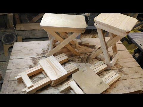 Как сделать складной стул своими руками
