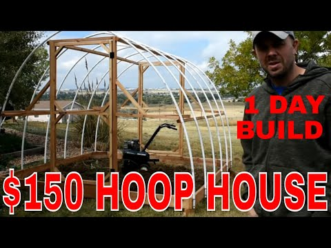 ORGANIC GARDENING–Build a 🌻Winter Greenhouse🌻 in 1 day for $150!!