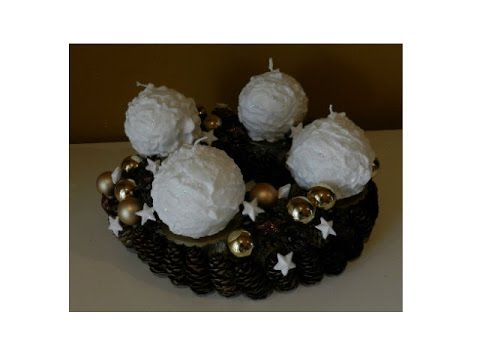 diy adventskranz selber basteln easy advent wreath youtube. Black Bedroom Furniture Sets. Home Design Ideas