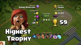 Highest Trophy | Clash of Clans | Trophy Pushing | Legend