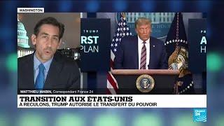 États-Unis : à reculons, Donald Trump autorise le transfert du pouvoir à Joe Biden