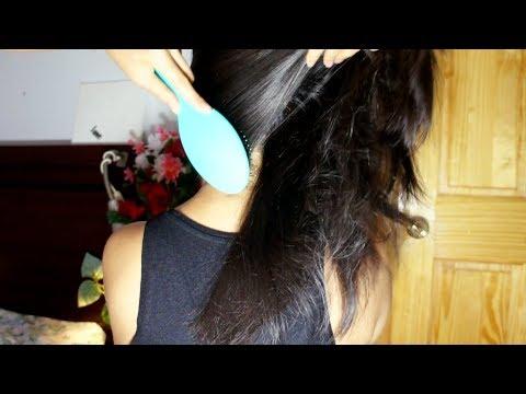 ASMR Hair Brushing, LOTS OF UPWARD BRUSHING + Hair Massage Hair Play (FASTER PACE)