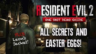 Resident Evil 2 Remake Demo ALL SECRETS & Easter Eggs You May Have Missed | Leon's Jacket & More!