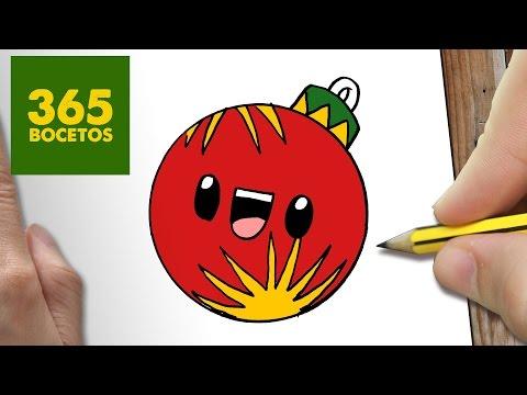Como Dibujar Una Bola Para Navidad Paso A Paso Dibujos