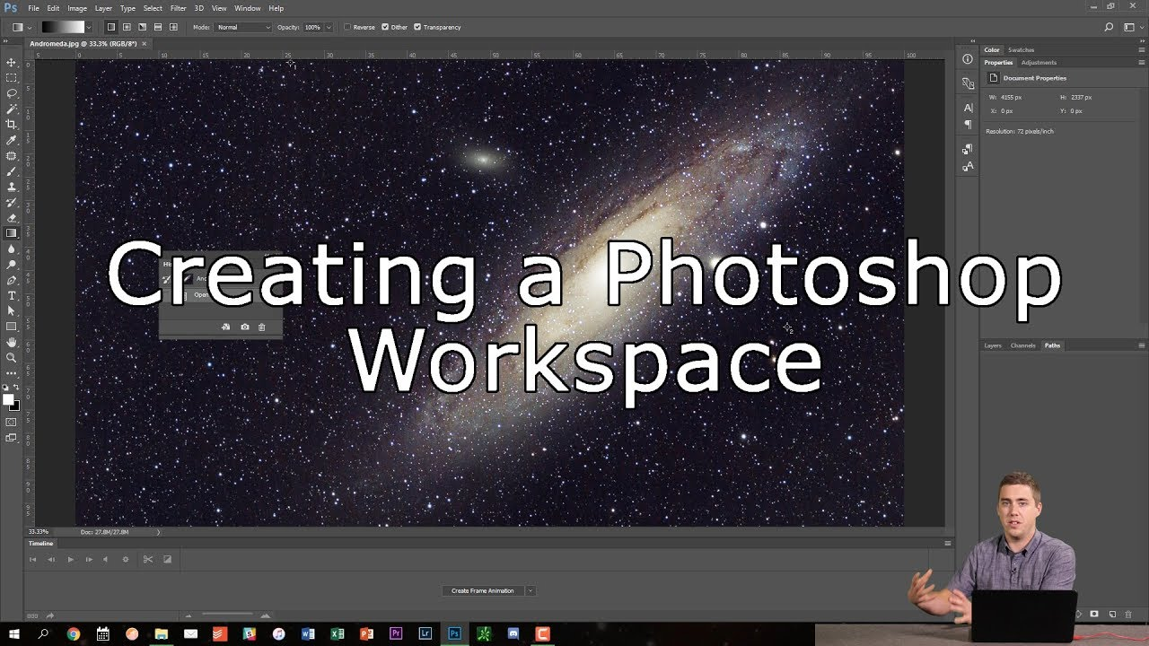 Creating A Workspace In Adobe Photoshop Youtube