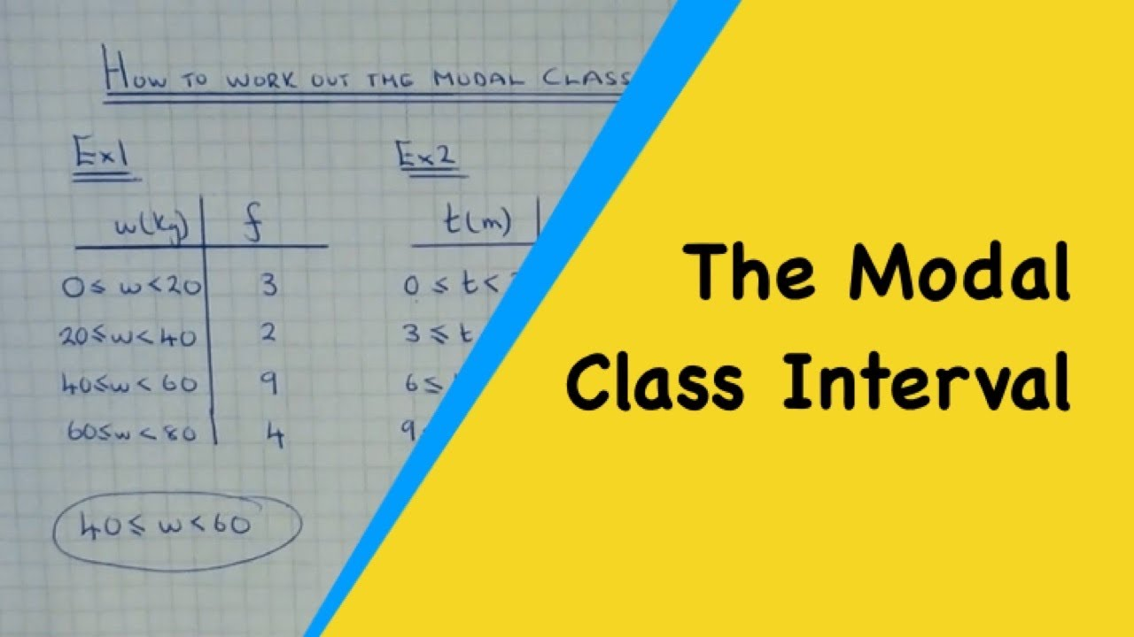 How To Work Out The Modal Class Interval From A Grouped Frequency Table