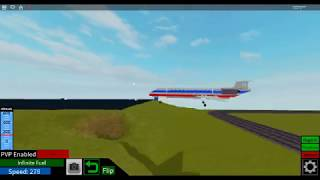 Roblox Plane Crazy: md-80 tail separation