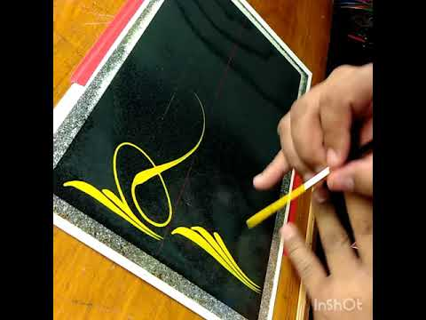 How To Pinstripe Simple Pinstriping Design 8 Youtube
