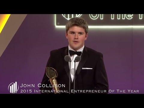 2015 EY Entrepreneur Of The Year Acceptance Speech - John & Patrick Collison, Stripe (International)