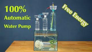 Free Energy water pump plastic bottle -  Water Pump for Aquarium