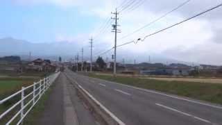「あの夏で待ってる」聖地巡礼2日目。乙女駅から徒歩で県道139号線を進み、例のアノ場所に立つ。