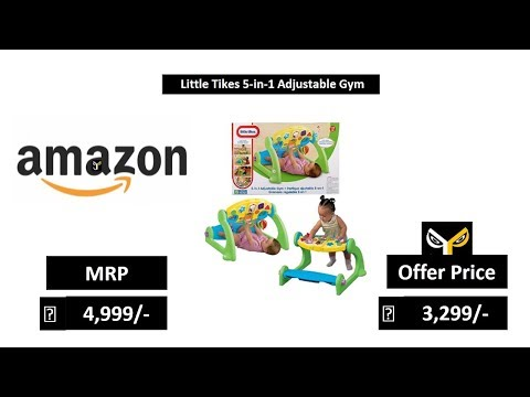 Amazon. Com: little tikes 5-in-1 adjustable gym: toys & games.