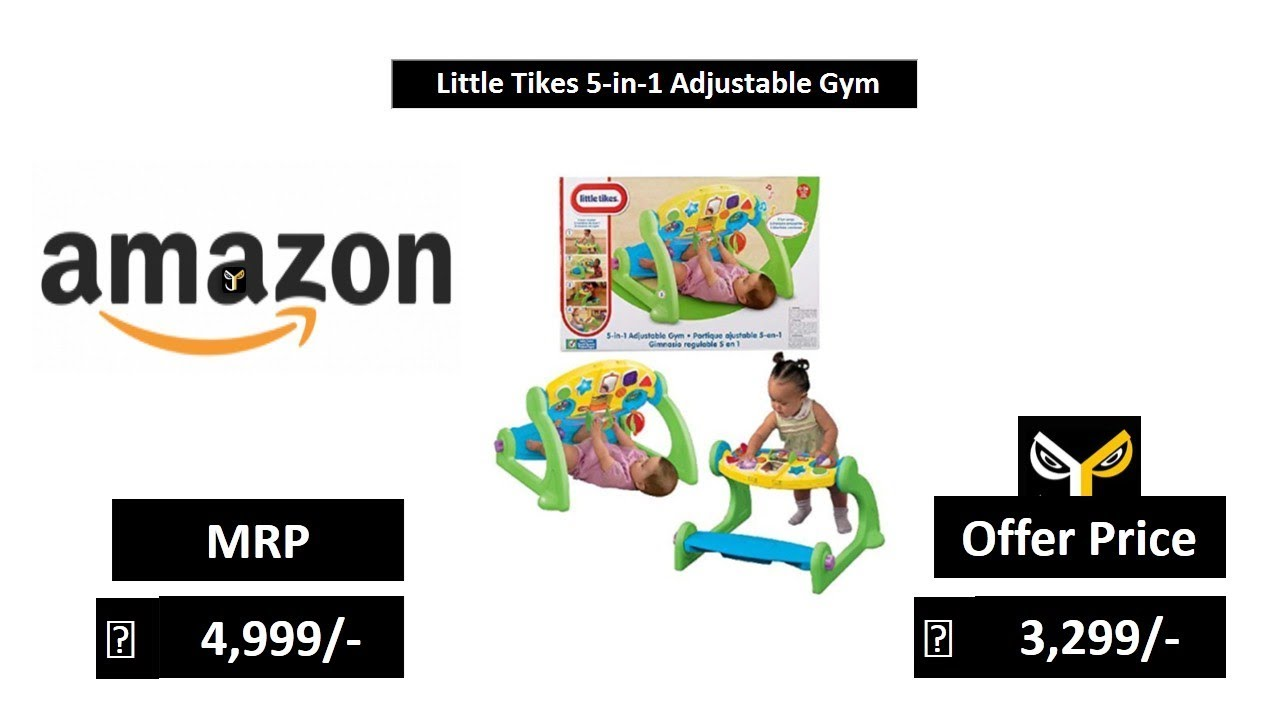 Little tikes 5in1 adjustable activity play gym kiddicare video.
